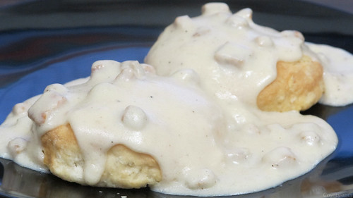 Biscuits and sausage gravy by Coyoty