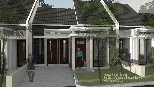 Desain Rumah Tinggal Ibu Dian-Tangerang Selatan, Banten
