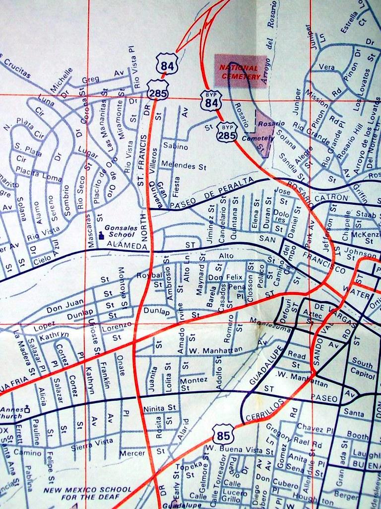 Santa Fe NM 1972 | Map by Arrow Map Co. | davecito | Flickr