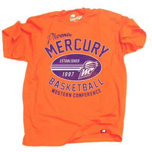 PHOENIX MERCURY SPORTIQE VINTAGE TRANSPORT TEE - ORANGE
