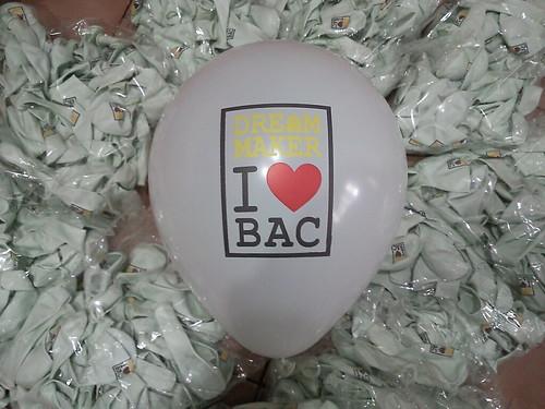 豆豆氣球, 客製化廣告印刷氣球, 三色印刷, DREAM MAKER I Love BAC