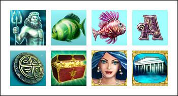 free Atlantis Queen slot game symbols