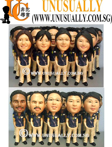 Customized Corporate Gifts - Long Service Award 3D Clay Figurines - @www.unusually.com.sg