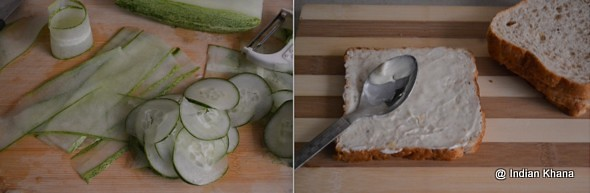 Cucumber Cheese Sandwich
