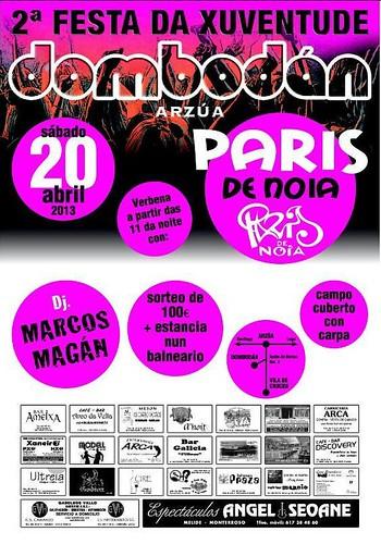 Arzúa 2013 - II Festa da Xuventude en Dombodán - cartel