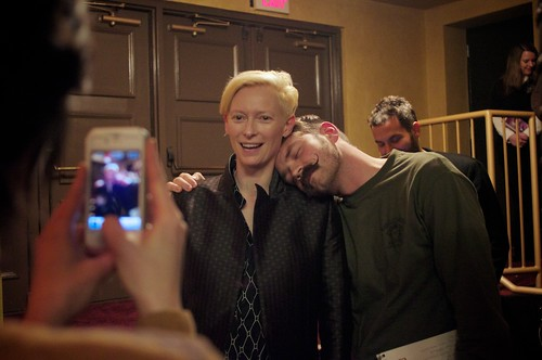 Fans with Tilda Swinton