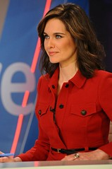 red, fashion, newscaster, person,