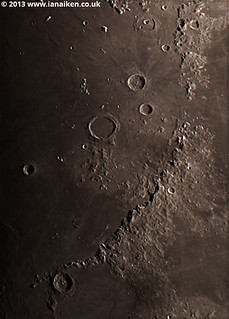 Montes Apenninus on the 19th April 2013