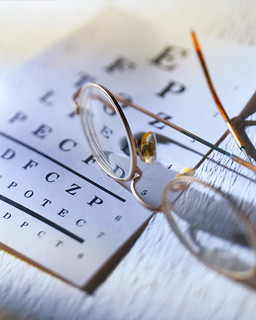 Photo:Glasses with Eye Chart By:sfloptometry