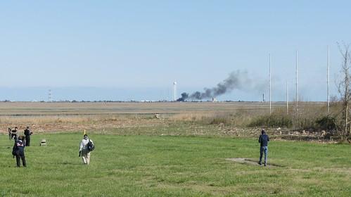 Antares Postlaunch brush fire at Pad 0A