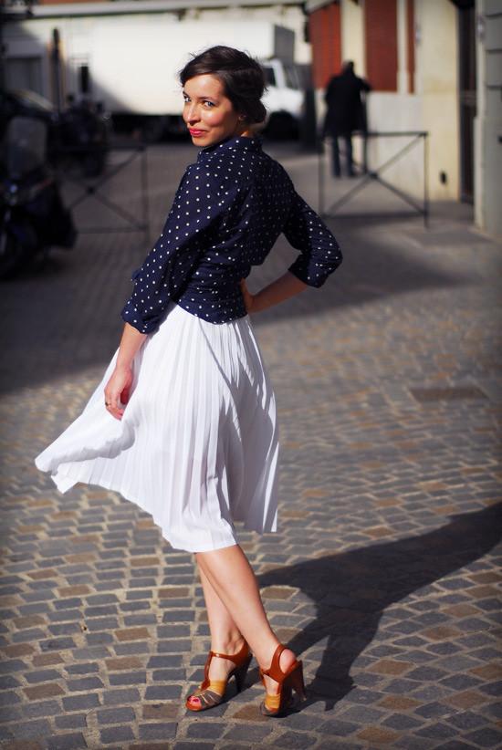 jupe plissée soleil