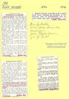 S.E. Zuvers obituary & misc. items