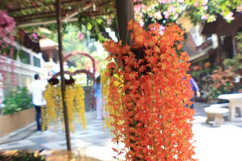 flowers everywhere at Wat Phra That Doi Suthep