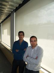 D'esquerra a dreta: Jordi Rabat i Francesc Comino, impulsors de Wattia Innova que ha dissenyat Espai Zero, exemple d'eficiència i autogeneració energètiques.