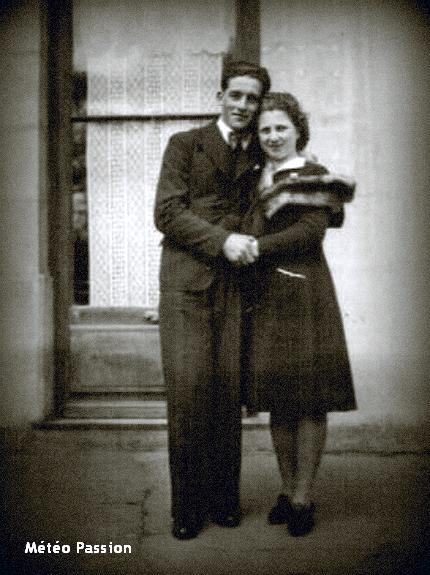 jeune couple d'amoureux par une belle journée de printemps en avril 1941 météopassion