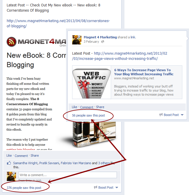 Increasing Facebook traffic to your blog