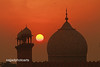 Sunset at lahore mosque...