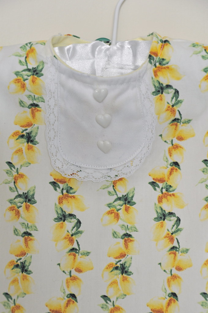 kids clothes week elsie marley  day six spring 2013 lemon print perennial dress tuxedo bib lace