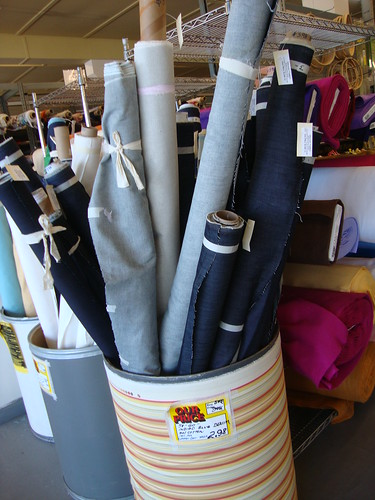 $2.98 denim (look for the green dot!) at Discount Fabrics