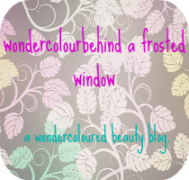 wondercolourbehindafrostedwindow