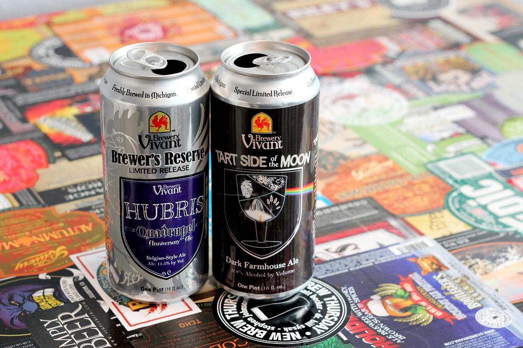 New Brew Thursday :  Hubris & Tart Side of the Moon : Brewery Vivant
