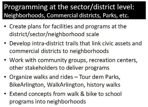 Slide from presentation on best practice bicycle planning and programming