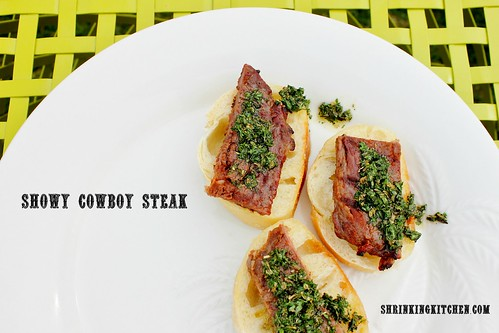 showy cowboy steak