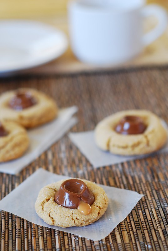 Peanut butter surprise cookies with Rolos