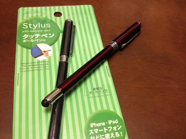 100円のスマホ用タッチペン