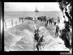 Laying the Pacific Cable from Bondi, Sydney to Auckland, New Zealand