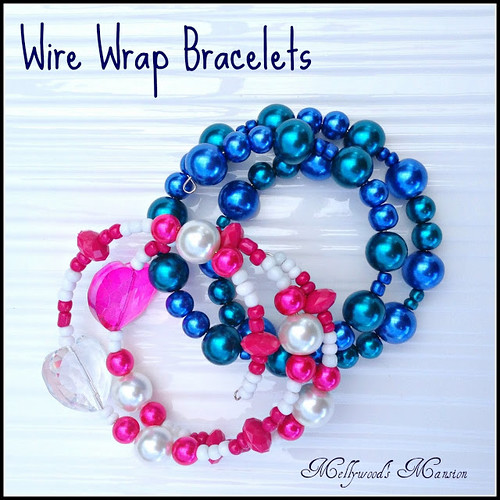 Wire Wrap Bracelets from Mellywood's Mansion.