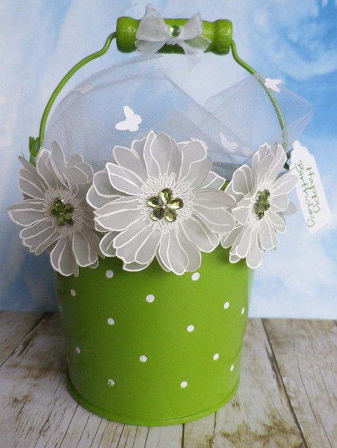 Flowers and Butterflies Gift Bucket