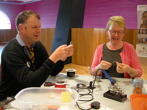 Learning to solder in a totally non-competitive manner.