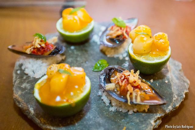 Kimchi de zamburiñas y mejillón Nam Jim (Asiana Nextdoor)