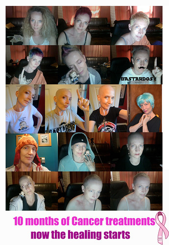 10 months of cancer treatments by wickeddollz