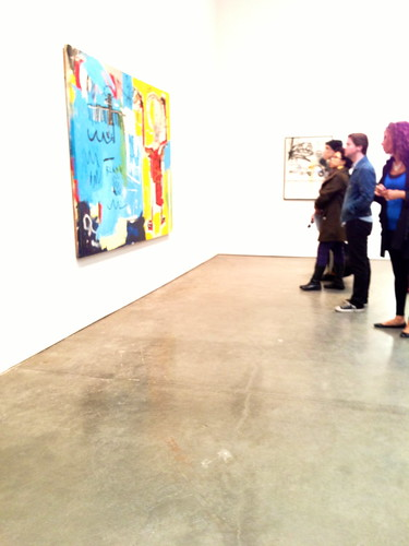 At the Jean-Michel Basquiat show, Gagosian Gallery