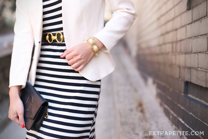 striped maxi dress ivory blazer4