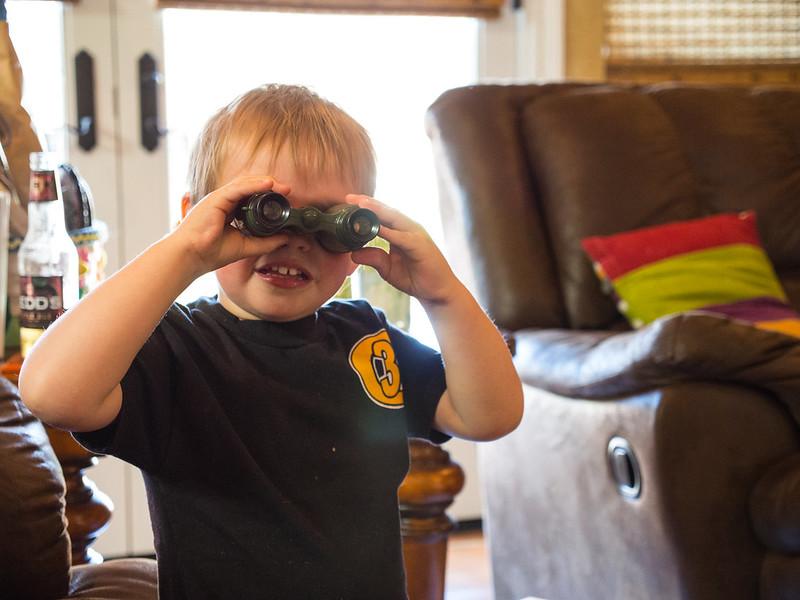 Binoculars Backwards