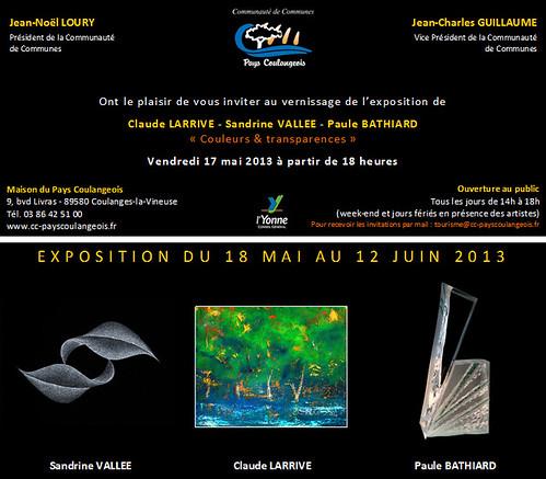 Couleurs et transparences - Maison du pays coulangeois - du 18 mai au 12 juin 2013