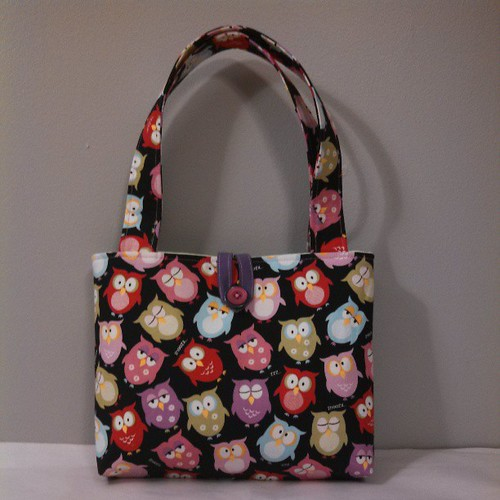 "Small owl purse $15    8"" tall 10"" wide 2"" depth comment with your PayPal email and I will invoice!"