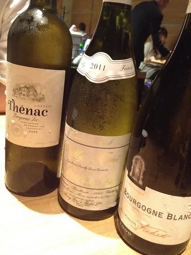 飲み放題なのによい白ワインたちを取り置きしてもらいました@ダブリュー センガワ