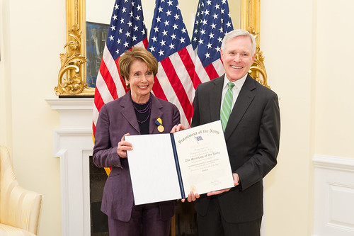 Democratic Leader Pelosi Receives U.S. Navy Distinguished Public Service Award