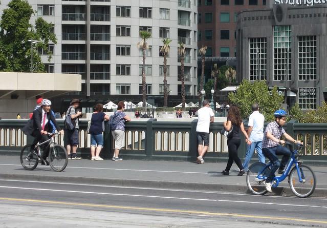 Cyclists on Princes Bridge
