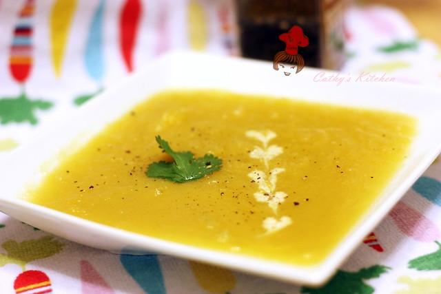 美式奶油瓜濃湯 Butter Squash Soup 3 (2)