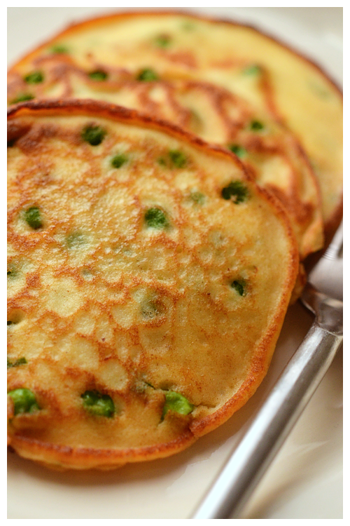 pea and ricotta pancakes© by Haalo
