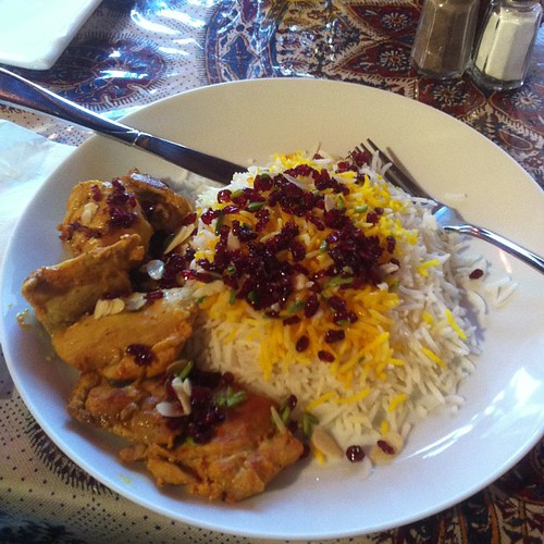 Marinated chicken with barberry saffron rice #yegfood