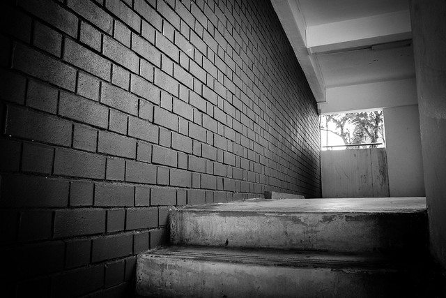 Brick wall test..... NOT! This was an interesting flat I came across this morning at Red Hill, Singapore. The extreme compactness of the camera meant I could not resist pulling it out to take some shots. This is what photography is about - the immediacy of the moment.