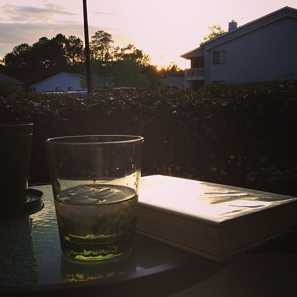 Time for some sunset patio reading.
