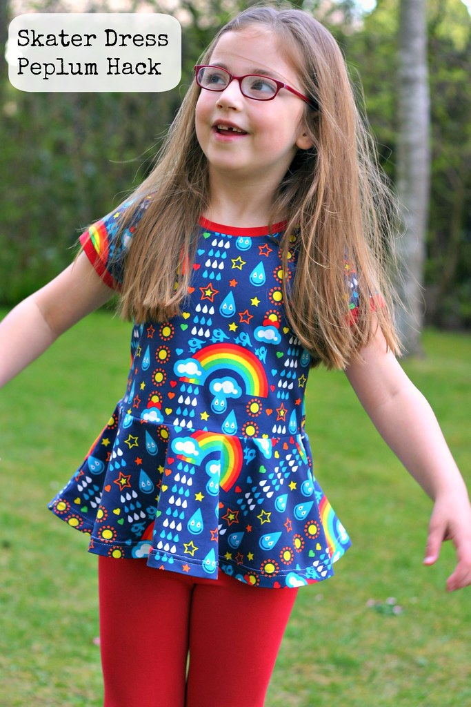rainbowphant peplum with text