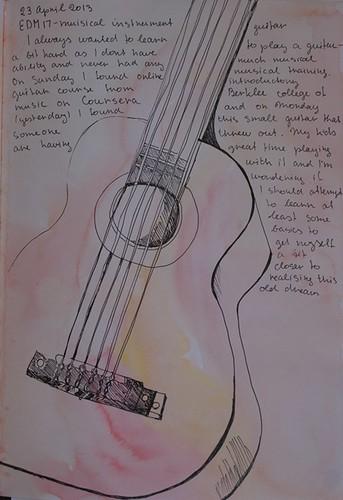 Sketch of guitar EDM17